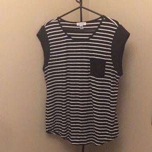 Calvin Klein black & white stripe tee